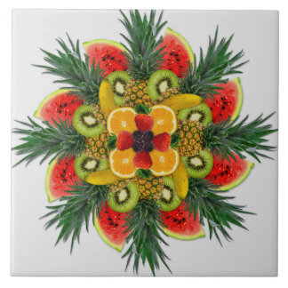 Watermelon Kiwi Banana Orange Fruit Ceramic Tile