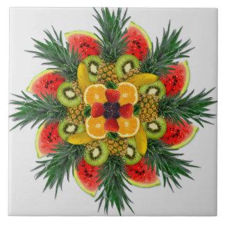 Watermelon Kiwi Banana Orange Fruit Ceramic Tile