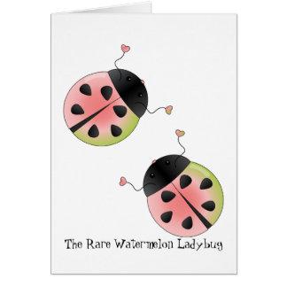 Watermelon Ladybug Card