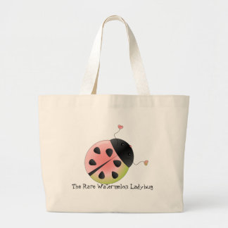 Watermelon Ladybug Large Tote Bag
