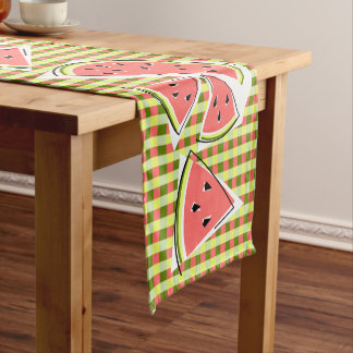 Watermelon Line Check table runner