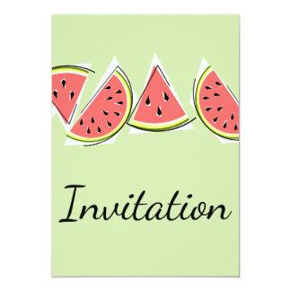 Watermelon Line Green invitation vertical