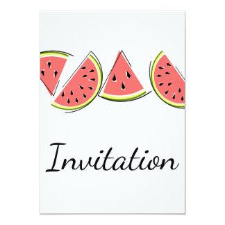 Watermelon Line invitation vertical