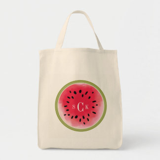 Watermelon  Monogram Tote Bag