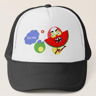 Watermelon monster fruit illustration trucker hat