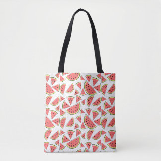 Watermelon Multi tote bag pink back