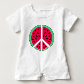 Watermelon of Peace Baby Romper