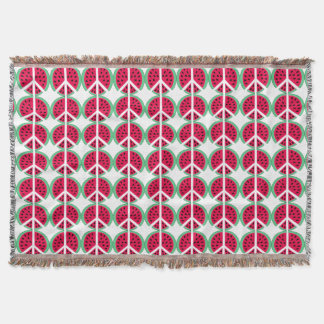 Watermelon of Peace Throw Blanket