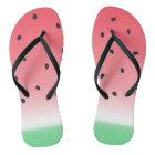 Watermelon Ombre Stripes Flip Flops