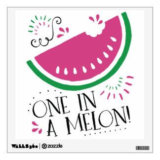 Watermelon - One in a Melon Wall Sticker
