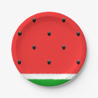 Watermelon paper plates. 7 inch paper plate
