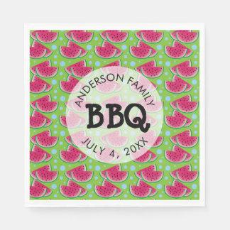 Watermelon Pattern Background Family BBQ Napkin