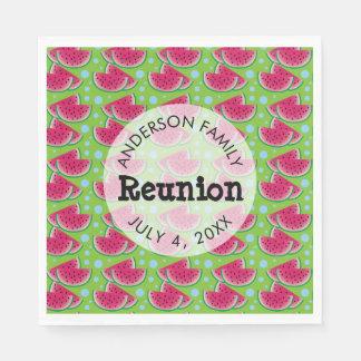 Watermelon Pattern Background Family Reunion Paper Napkin