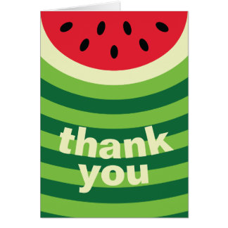 Watermelon Pattern Card