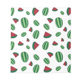 Watermelon Pattern Notepad