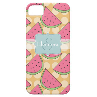 Watermelon Pattern, Orange Polka Dots iPhone 5 Cover