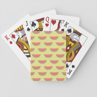 watermelon pattern playing cards