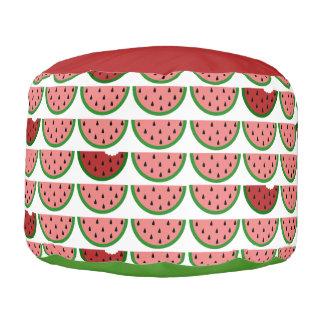 Watermelon Pattern Round Pouf