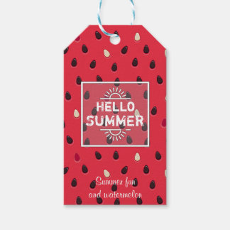 Watermelon Pattern, Summer Time | Personalized Gift Tags