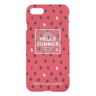 Watermelon Pattern, Summer Time   Personalized iPhone 8/7 Case