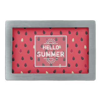 Watermelon Pattern, Summer Time | Personalized Rectangular Belt Buckle