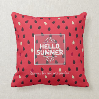 Watermelon Pattern, Summer Time | Personalized Throw Pillow