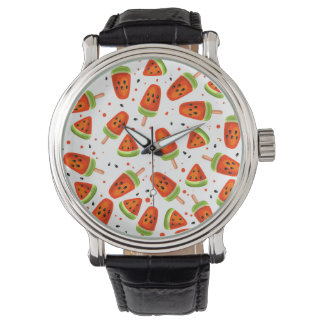 Watermelon pattern wristwatch
