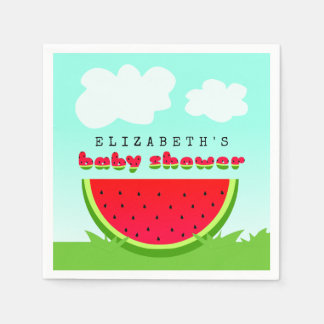 Watermelon Picnic Baby Shower Paper Napkin
