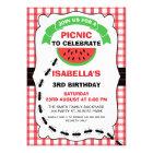 Watermelon Picnic Birthday Party Invitation