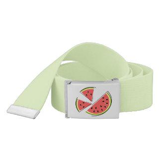 Watermelon Pieces belt green