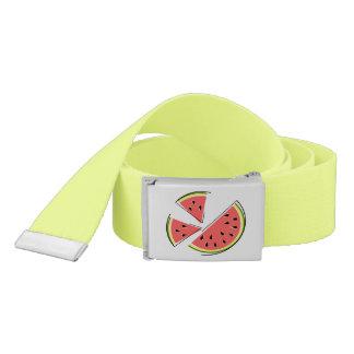 Watermelon Pieces belt yellow green