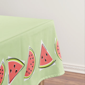 Watermelon Pieces Green tablecloth border