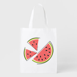 Watermelon Pieces reusable bag