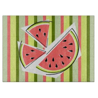 Watermelon Pieces Stripe cutting board