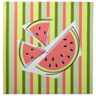 Watermelon Pieces Stripe napkins cloth