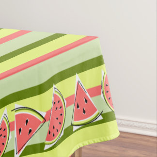 Watermelon Pieces stripe tablecloth