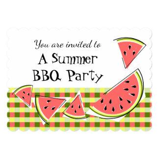 Watermelon Pieces Summer BBQ check Card
