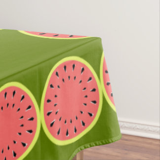 Watermelon Pink Border tablecloth large