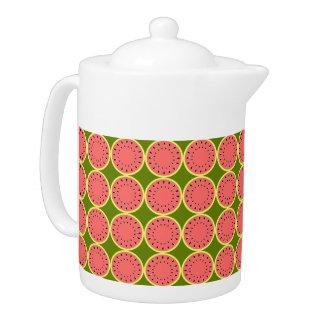 Watermelon Pink Multi teapot