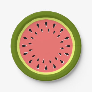 Watermelon Pink paper plates