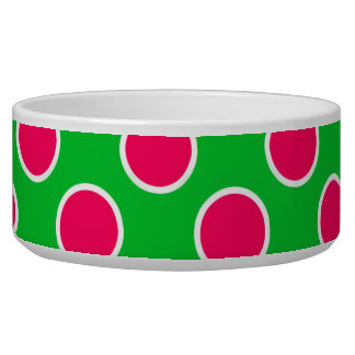 Watermelon Polka Dots Pet Bowl