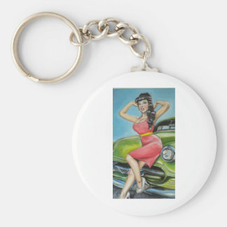 Watermelon pop candy pin up keychain