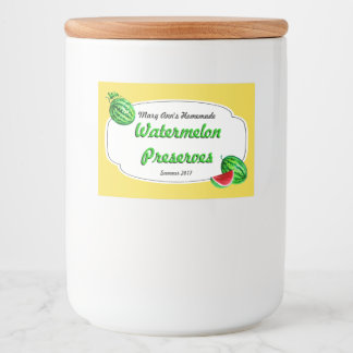 Watermelon Preserves Canning Labels