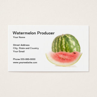 Watermelon Producer Business Card
