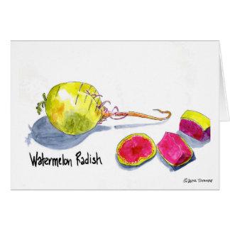 Watermelon Radish card