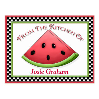 Watermelon Recipe Cards