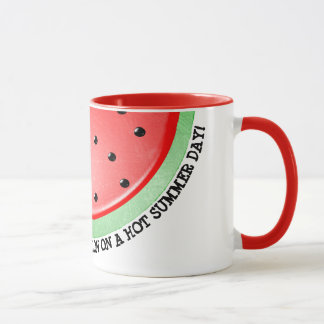 Watermelon Red Handled Coffee Cup