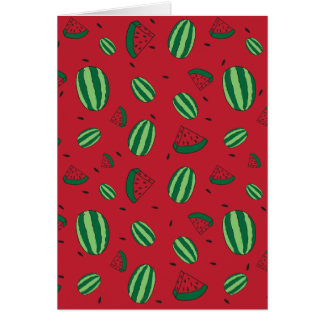 Watermelon Red Pattern Card