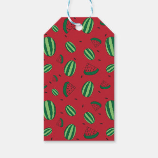 Watermelon Red Pattern Gift Tags