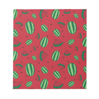 Watermelon Red Pattern Notepad